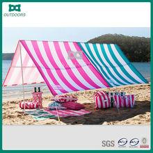 Heated tarp sun shield for beach camping