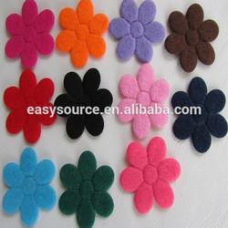 factory directly sale cheap high quality customized fabric multicolor plum blossom shape felt craft