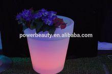 led round flower pot solar lights