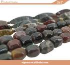 Fancy shape loose wholesale semi precious stone picture jasper
