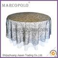 Bordado del organza tabla de superposición para banquetes / barato de la boda negro superposiciones de mesa
