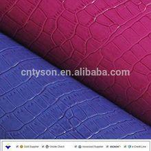 Crocodile patent pu leather for bag handbag wallet