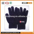 acrilico lavorato a maglia modello logo stampato guanti per la promozione