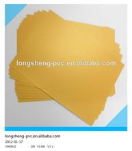 Golden inkjet pvc sheets