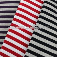 100% cotton stripe knitting fabric