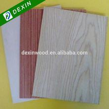 Ash, Sapele, Black Walnut, Burma Teak, Red Oak Colored Veneer Plywood