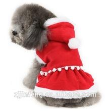 New 2014 Christmas dog clothing cute Girl santa dress pet clothes small medium dog Chihuahua Yorkshire Poodle