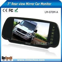 7 inch High brightness Rear view mirror car monitor for Van/camper/RV