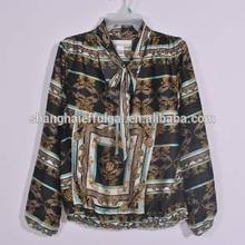 Bohemia de moda blusa de la gasa para las para mujer