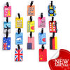 PVC luggage tags cute customized travel accessories