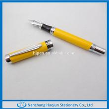 2014 Heavy Yellow Metal Logo Business Gift Fountain Pen