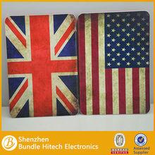 US UK Flag Style Wallet Leather Case For iPad Mini