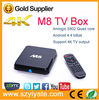 wireless keyboard for android tv box cortex A9 android 4.4 smart tv box m8 android tv box
