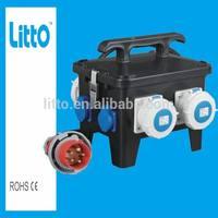 International Standard Plastic Combination Lock Box with IP67/IP44 Plug and Socket