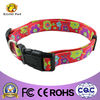 new design print red flowers pet collar dog collar