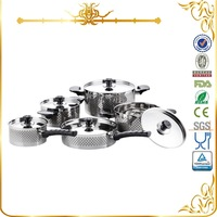 MSF-3056 wholesale italian amc cookware price 10pcs stainless steel cookware set with diamond decal