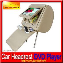 """7"""" hd kafalık araba dvd kafalık fermuarlı arka koltuklar görünür ekran"""