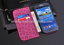 Estilo de moda de luxo capa de couro Leopard para Samsung Galaxy i9082 grande Duos caso carteira