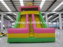 Hot Spongebob Double Lane Inflatable Kids Indoor Slide for Sale