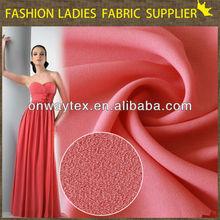 Polyester en mousseline de soie tissu en mousseline de soie patterns de robe de mariage en mousseline de soie crêpe