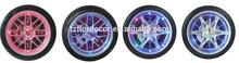 promotional wall clock tyre shape wall clock with LED light 14 inch tyre shape wall clock