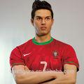 esportes estátuas de figuras do mundo famoso jogador de futebol cristiano ronaldo cera figura