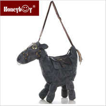 high quality attractive horse design fashion canvas shoudler bag