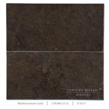 6*12 Inch Brown Decorative Kitchen Wall Limestone Tile