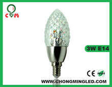3w e14 ceramic with 3 years warranty led candle light