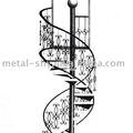 في الهواء الطلق/ مغطى دوامة الدرج الحديد المطاوع الحديثة التصاميم للبيع