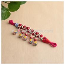 Top Sale Ethnic Style Metal Hollow Balls Woven Bead Bracelets