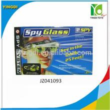 Menino plástico night view vidro spy brinquedo com luz