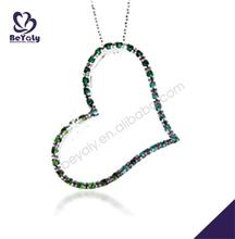 grande vuoto cz gioielli in argento intarsiato 2 metà cuore collana