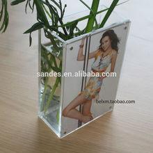 Hot Selling Large Photo Frame Transparent Acrylic Square Vases