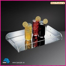 Transparent Acrylic Beverage Serving Tray