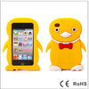Cute Penguin Shaped 3D Silicone Case for iPod Touch 4 Yellow-515
