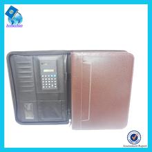 Customize different designs A4 leather portfolio