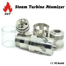 Glass tank vaporizer Hotcig HOT SELLING Steam Turbine Atomizer Genesis style RBA