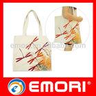 Low cost pratical drawstring ladies cotton shoulder bag