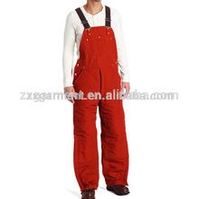 TC fabric men's red bib overalls