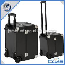MLD-TC236 Sturdy Lockable Black Aluminium Chest Makeup Trolley Tool Box