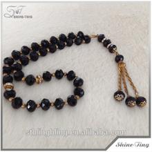 ingrosso abbigliamento di corallo nero e collana di cristallo rosario