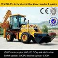China barato retroescavadeira, Wz30-25, Opcional cummins engine, Controle joystick