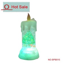 hot sale led candle light plastic acrylic water globe with photo insert