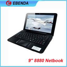 9 inch VIA8880 Dual-Cor netbook Google Android 4.2 mini laptop Dual-Core ARM Cortex-A9 1.5GHZ