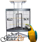 [Grace Pet] High quality Stainless steel Large Parrot bird cage with perch