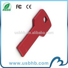 Promotional round hole RED Key Shape USB Flash Drive wholesale flash memory