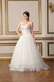 Simple mais élégant vintage style conception chérie décolleté à volants tulle robes de mariée blanche robe de bal pur 2015