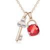 Lock and key earrings gold zircon earring fashion earring designs 2014