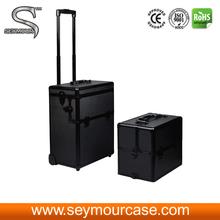Metal maquiagem caso PVC painel maquiagem caso elegante caixa de embalagem de presente